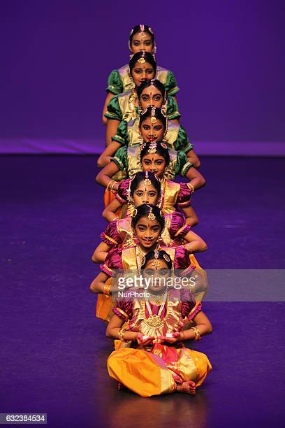 Tamil dancers perform during the Thai Pongal festival in Markham Ontario Canada on January 15 2017 The festival of Thai Pongal is a thanksgiving...