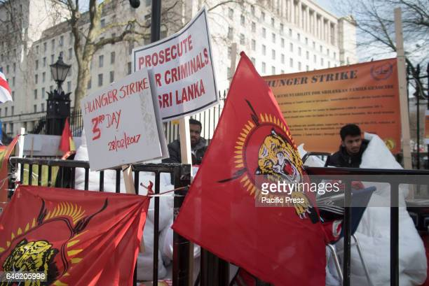 Tamil demonstrators against Sri Lanka's government to ask for the liberation of civil war prisoners The protest includes a hunger strike which is...