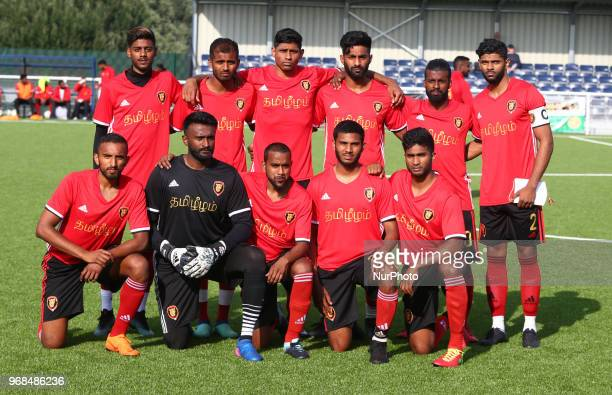 Tamil Eelam Team Shoot during Conifa Paddy Power World Football Cup 2018 Quarterfinal C for Places 916 match between Tamil Eelam against Abkhazia at...