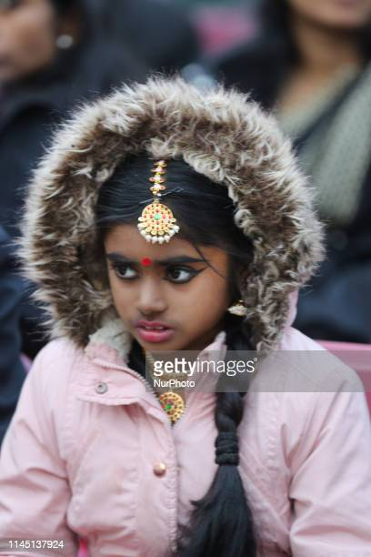 Tamil girl listens to a somber song during Tamil Genocide Remembrance Day on May 18 2019 in Scarborough Ontario Canada This year marks the 10th...