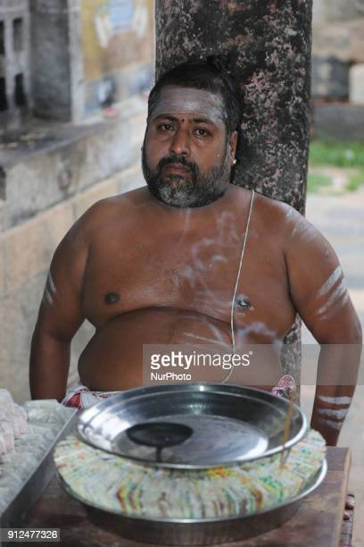 Tamil Hindu priest at the Nataraja Temple in Chidambaram Tamil Nadu India The Chidambaram Nataraja temple or Thillai Nataraja temple is a Hindu...