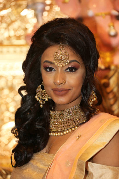 South indian and tamil bridal show in toronto photos and images tamil model wearing an exquisite outfit during a south indian and tamil bridal show held in altavistaventures Image collections