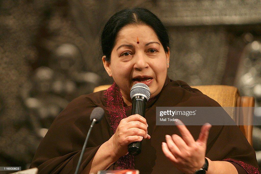 Jayalalithaa's  Press Conference : News Photo