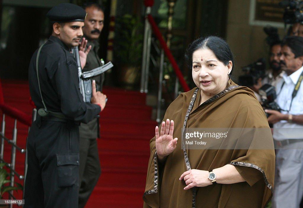 Jayalalitha at Tamil Nadu Bhawan : News Photo