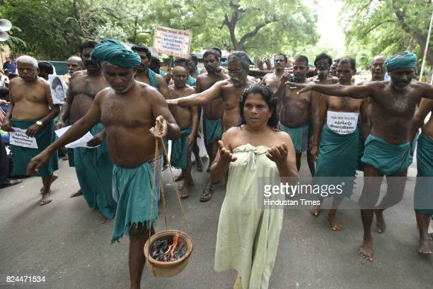 Tamil Nadu farmers protest to press their various demands like good price for agriculture monthly pension water from Cauvery River crop insurance etc...