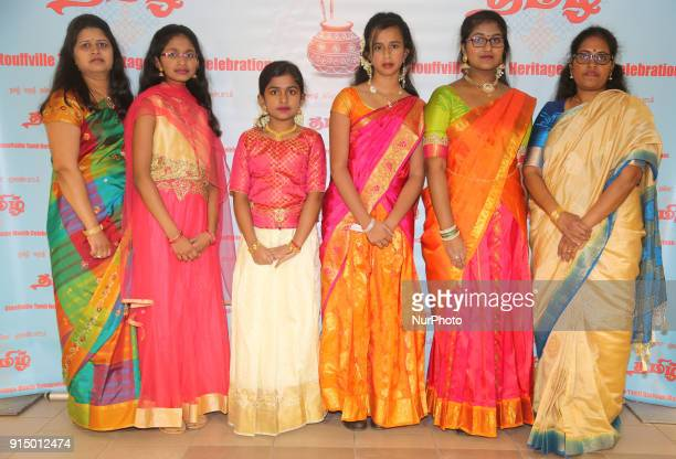 Tamils take part in a cultural celebration during Tamil Heritage Month in Stouffville Ontario Canada on January 26 2018 The Canadian Parliament...