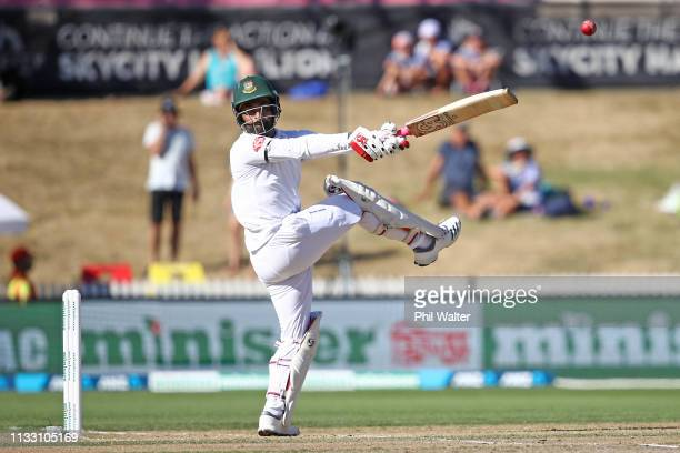 Tamim Iqbal of Bangladesh bats during day three of the First Test match in the series between New Zealand and Bangladesh at at Seddon Park on March...