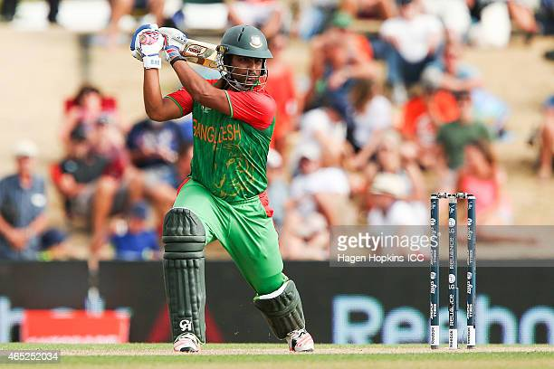 Tamim Iqbal of Bangladesh bats during the 2015 ICC Cricket World Cup match between Bangladesh and Scotland at Saxton Field on March 5 2015 in Nelson...