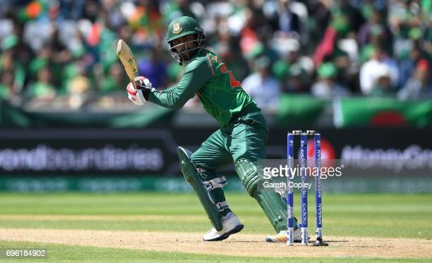 Tamim Iqbal of Bangladesh bats during the ICC Champions Trophy Semi Final between Bangladesh and India at Edgbaston on June 15 2017 in Birmingham...