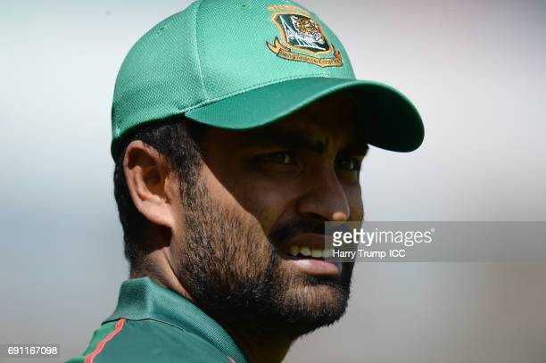 Tamim Iqbal of Bangladesh during the ICC Champions Trophy match between England and Bangladesh at The Kia Oval on June 1 2017 in London England
