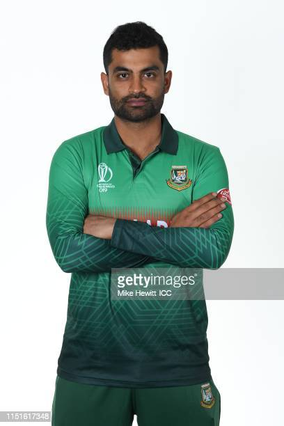Tamim Iqbal of Bangladesh poses for a portrait prior to the ICC Cricket World Cup 2019 at the Park Plaza Hotel on May 25 2019 in Cardiff Wales