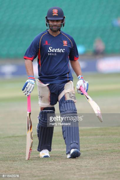 Tamim Iqbal of Essex Eagles before the Natwest T20 Blast match between Kent Spitfires and Essex Eagles at The County Ground on July 9 2017 in...