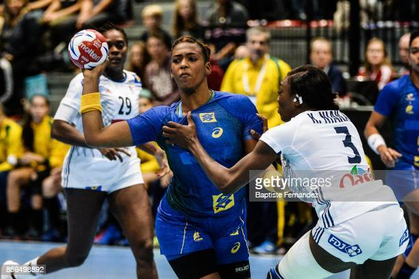Tamires Araujo of Brazil during the handball women's international friendly match between France and Brazil on October 1 2017 in TremblayenFrance...