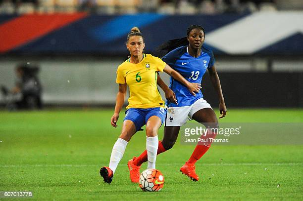 Tamires GOMES of Brazil and Kadidiatou DIANI of France during the International friendly match between France women and Brazil women on September 16...