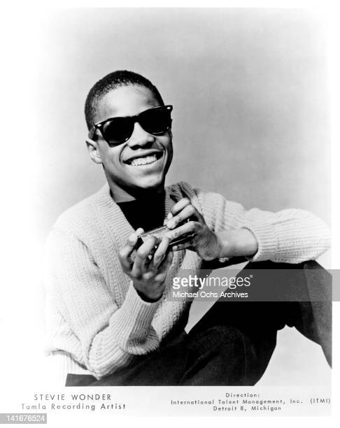 Tamla recording star Stevie Wonder poses for a portrait circa 1964 in New york City New York