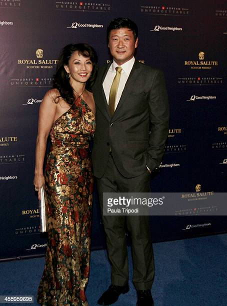 Tamlyn Tomita and Tom Choi arrive at Park Plaza on December 7 2013 in Los Angeles California