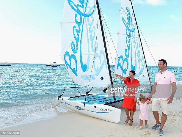 Tammin Sursok and Family Visit Beaches at Turks Caicos Resort Villages Spa on August 7 2016 in Providenciales Turks and Caicos Islands
