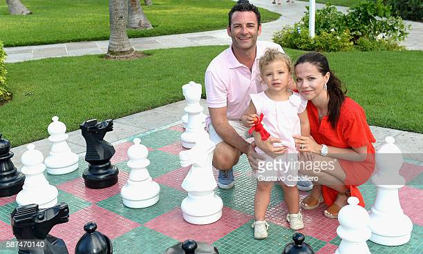 Tammin Sursok and Family Visit Beaches at Turks & Caicos Resort Villages & Spa on August 7, 2016 in Providenciales, Turks and Caicos Islands.