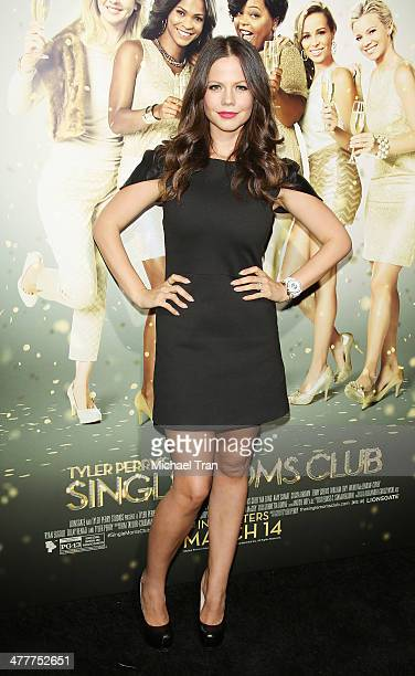 Tammin Sursok arrives at the Los Angeles premiere of Tyler Perry's The Single Moms Club held at ArcLight Cinemas Cinerama Dome on March 10 2014 in...
