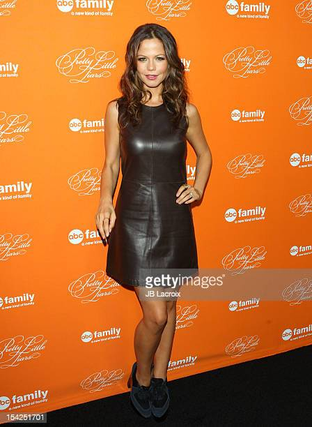 Tammin Sursok attends ABC Family's 'Pretty Little Liars' Halloween Episode Premiere at Hollywood Forever on October 16 2012 in Hollywood California