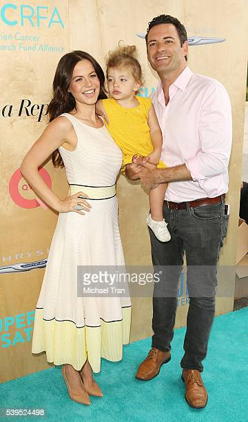 Tammin Sursok with Sean McEwen and their daughter Phoenix Emmanuel McEwen arrive at the Ovarian Cancer Research Fund Alliance's 3rd Annual Super...