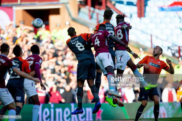 Tammy Abraham of Aston Villa scores for Aston Villa during the Sky Bet Championship match between Aston Villa and Swansea at Villa Park on October...