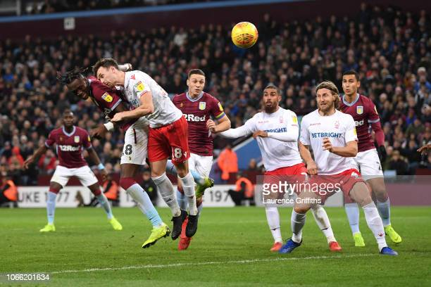 Tammy Abraham of Aston Villa scores to make it 44 during the Sky Bet Championship match between Aston Villa and Nottingham Forest at Villa Park on...