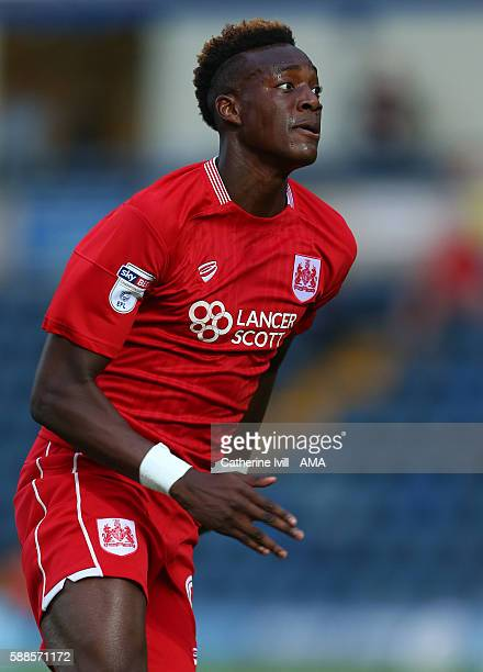 Tammy Abraham of Bristol City during the EFL Cup match between Wycombe Wanderers and Bristol City at Adams Park on August 8 2016 in High Wycombe...