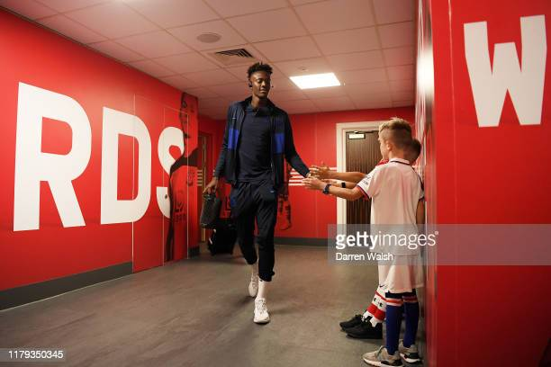 Tammy Abraham of Chelsea arrives at the stadium prior to the Premier League match between Southampton FC and Chelsea FC at St Mary's Stadium on...