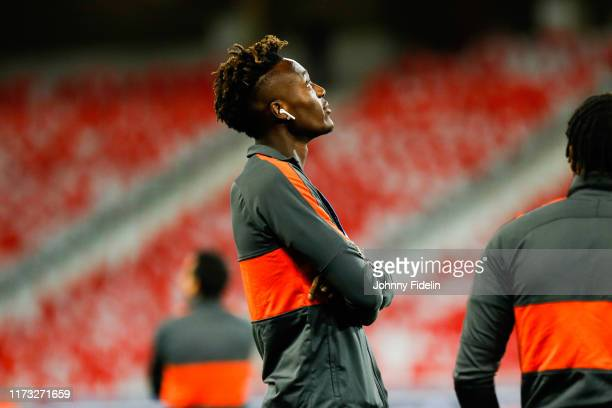 Tammy ABRAHAM of Chelsea before the UEFA Champions League match between Lille and Chelsea at Stade Pierre Mauroy on October 2 2019 in Lille France