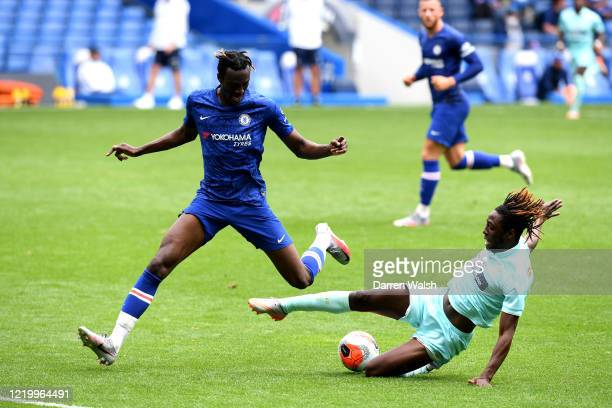 Tammy Abraham of Chelsea during a friendly match between Chelsea and Queens Park Rangers at Stamford Bridge on June 14 2020 in London England