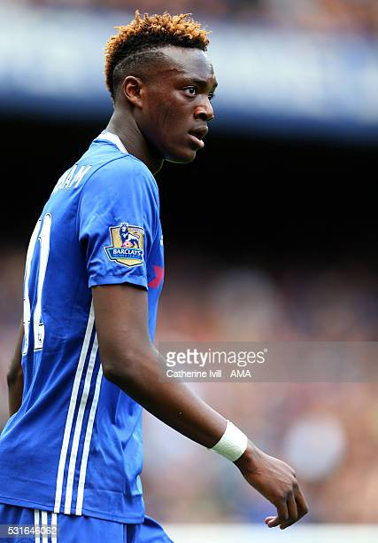 Tammy Abraham of Chelsea during the Barclays Premier League match between Chelsea and Leicester City at Stamford Bridge on May 15 2016 in London...