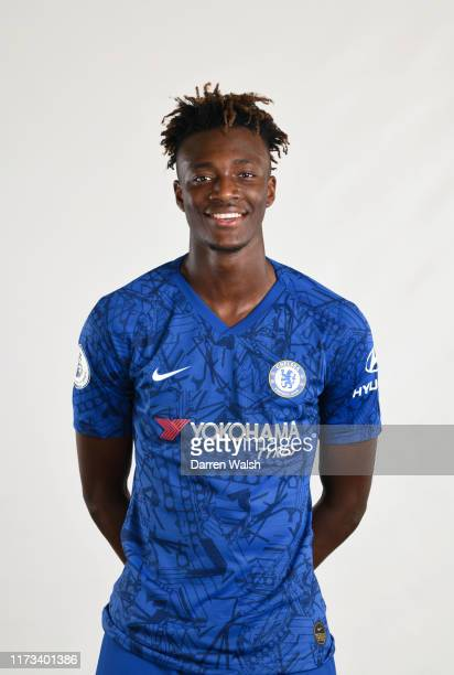 Tammy Abraham of Chelsea during the media open day at Chelsea Training Ground on July 29 2019 in Cobham England