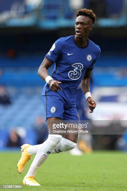 Tammy Abraham of Chelsea during the Premier League match between Chelsea and Crystal Palace at Stamford Bridge on October 3 2020 in London United...
