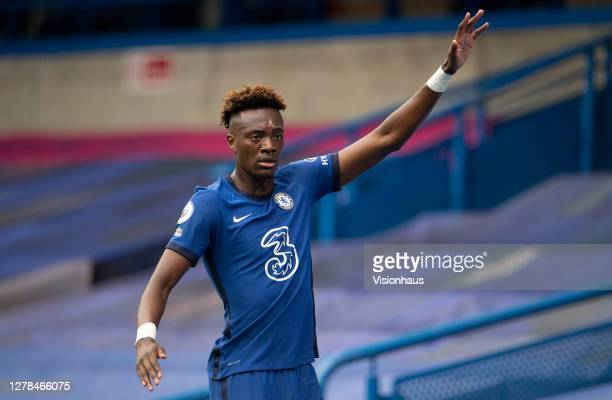 Tammy Abraham of Chelsea during the Premier League match between Chelsea and Crystal Palace at Stamford Bridge on October 03 2020 in London England...