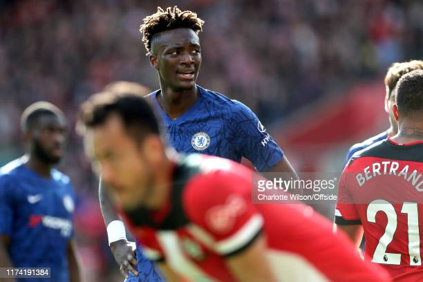 Tammy Abraham of Chelsea during the Premier League match between Southampton FC and Chelsea FC at St Mary's Stadium on October 6 2019 in Southampton...