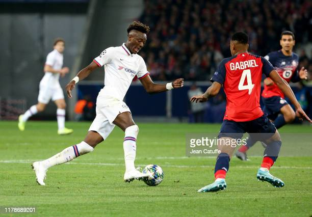 Tammy Abraham of Chelsea during the UEFA Champions League group H match between Lille OSC and Chelsea FC at Stade Pierre Mauroy on October 2 2019 in...