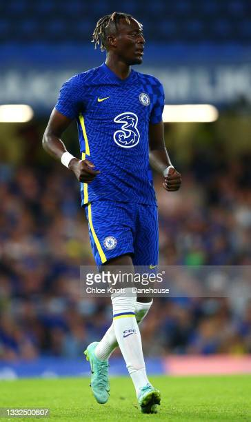 Tammy Abraham of Chelsea FC during the Pre Season Friendly between Chelsea and Tottenham Hotspur at Stamford Bridge on August 04, 2021 in London,...
