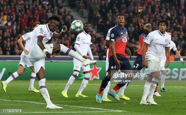 Tammy Abraham of Chelsea FC in action during the UEFA Champions League group H match between Lille OSC and Chelsea FC at Stade Pierre Mauroy on...