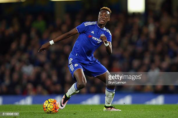 Tammy Abraham of Chelsea in action during the FA Youth Cup SemiFinal Second Leg match between Chelsea and Blackburn Rovers at Stamford Bridge on...