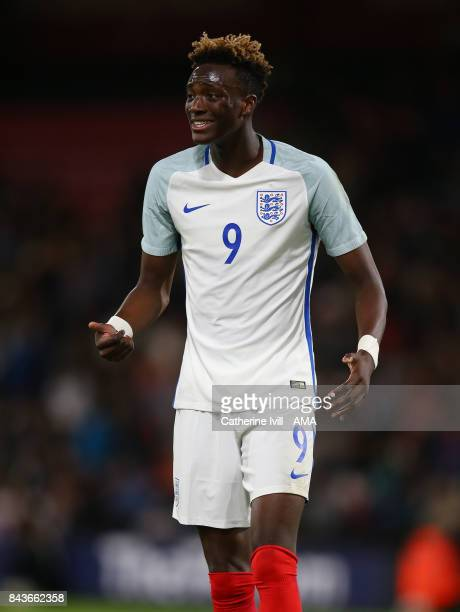Tammy Abraham of England U21 during the UEFA Under 21 Championship Qualifier match between England and Latvia at Vitality Stadium on September 5 2017...