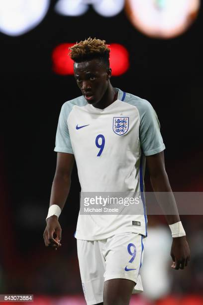 Tammy Abraham of England U21's during the UEFA Under 21 Championship Qualifier match between England and Latvia at the Vitality Stadium on September...