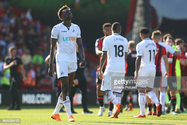 Tammy Abraham of Swansea City after the final whistle during the Premier League match between AFC Bournemouth and Swansea City at Vitality Stadium on...