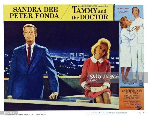 Tammy And The Doctor US lobbycard from left Peter Fonda Sandra Dee 1963