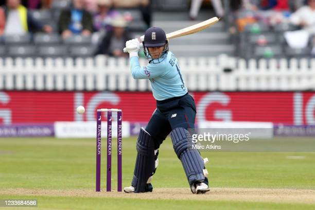Tammy Beaumont of England during the Women's First One Day International between England and India at Bristol County Ground on June 27, 2021 in...