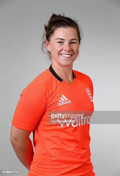 Tammy Beaumont of England poses for a portrait at the National Cricket Performance Centre on July 1 2015 in Loughborough England