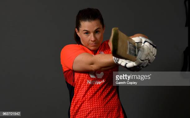 Tammy Beaumont of England poses for a portrait on May 30 2018 in Loughborough England