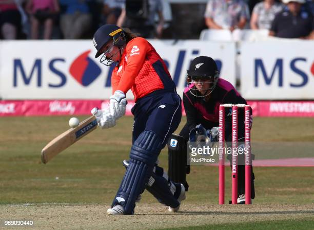 Tammy Beaumont of England Women during International Twenty20 Final match between England Women and New Zealand Women at The Cloudfm County Ground...