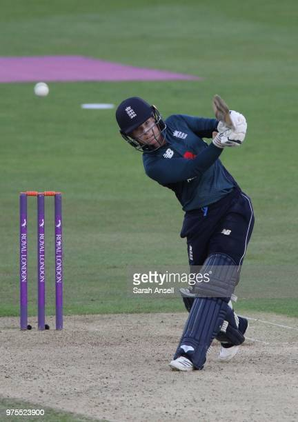 Tammy Beaumont of England Women hits another boundary during the 3rd ODI of the ICC Women's Championship between England Women and South Africa Women...