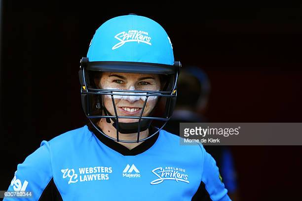 Tammy Beaumont of the Adelaide Strikers prepare to bat during the WBBL match between the Sixers and Strikers on January 2 2017 in Adelaide Australia